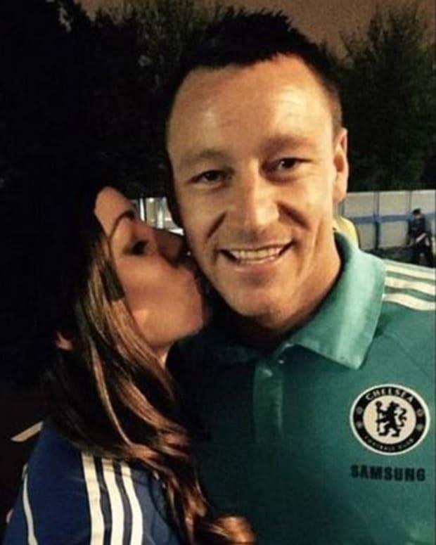 Kirstie Wilson and Chelsea Captain John Terry