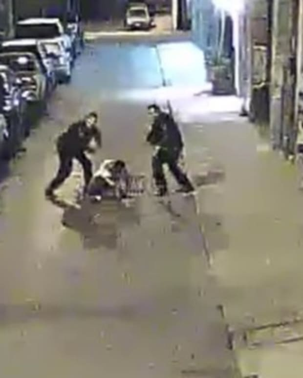 Officers Caught On Camera Beating Suspect With Batons Promo Image