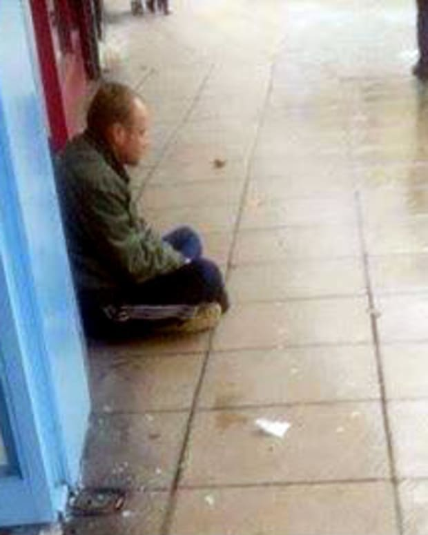 Homeless Man In Portsmouth, England.