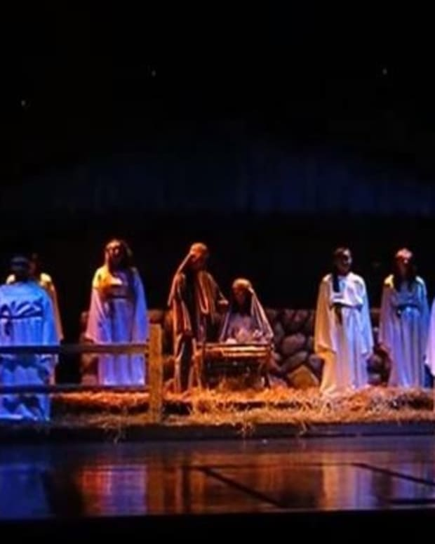 Nativity scene on stage