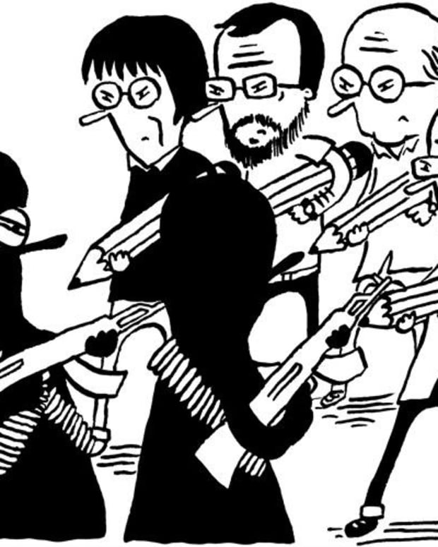 Critics Slam France's Charlie Hebdo Promo Image