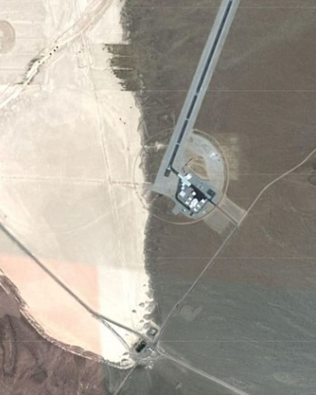 Google Maps Reportedly Reveals UFO In Area 51 Promo Image