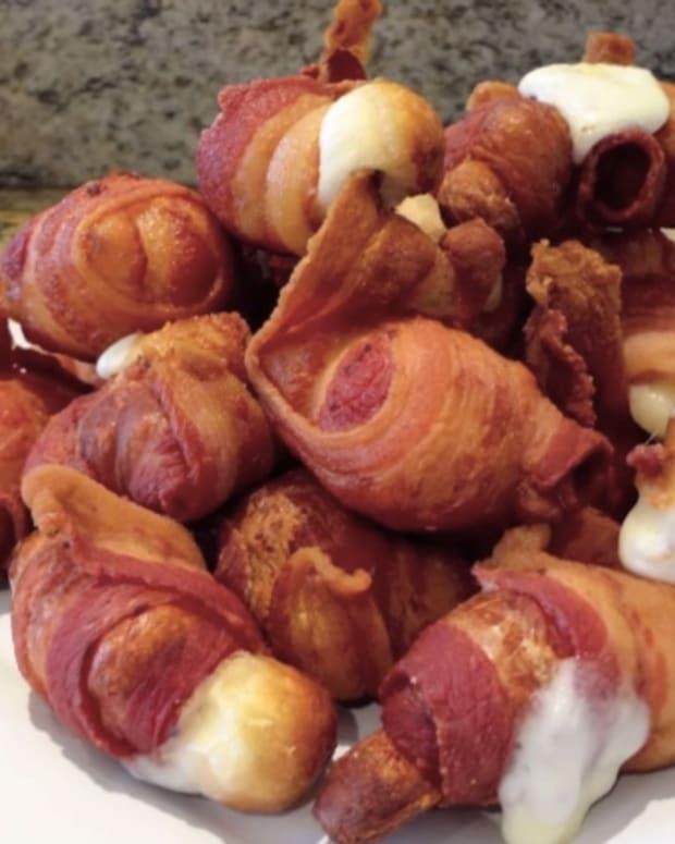 Cheesy Bacon Poppers.