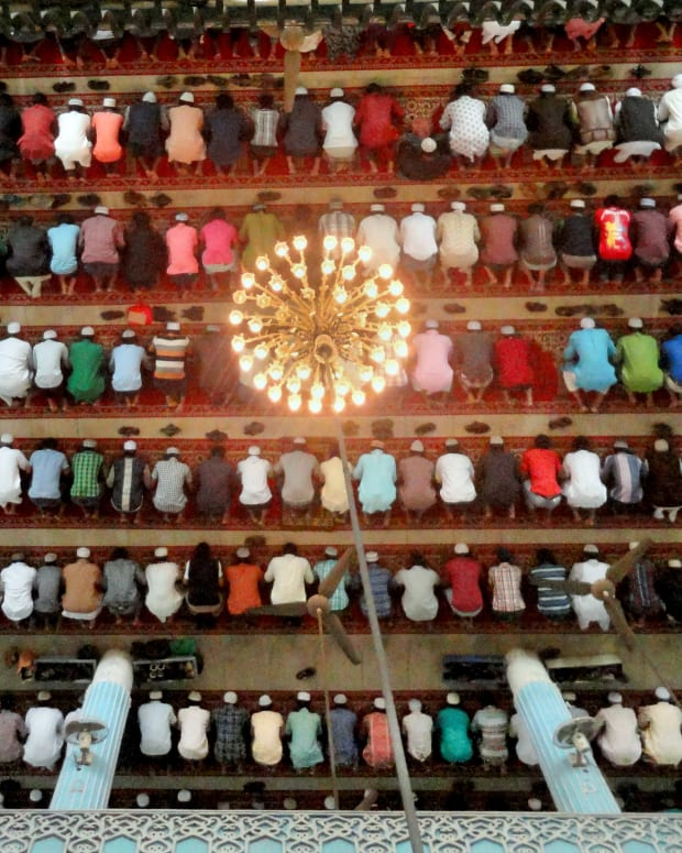 Muslims praying.