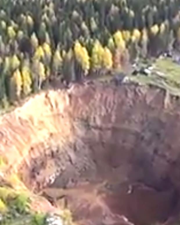 Giant Russian Sinkhole.