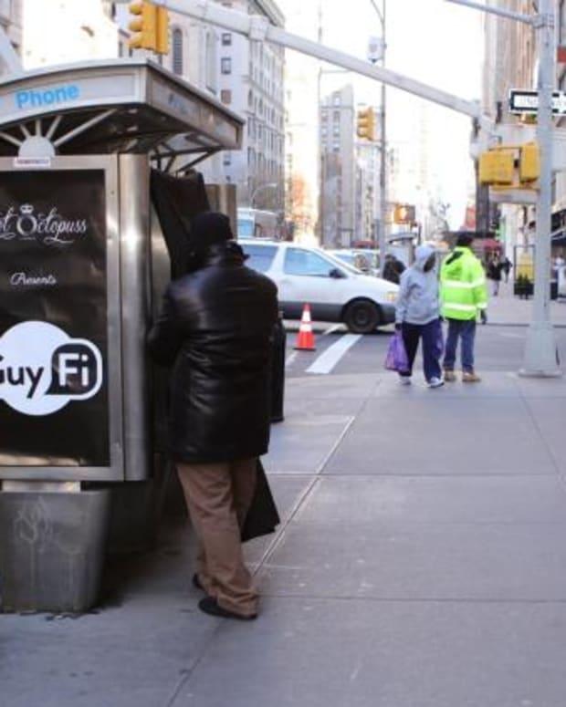 The GuyFi Booth In Manhattan