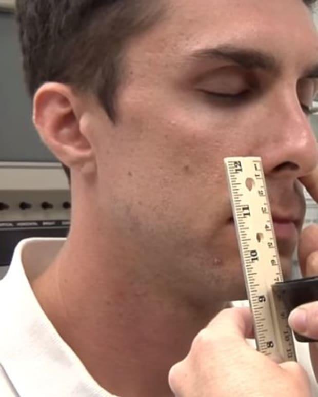 An Alzheimer's peanut butter test