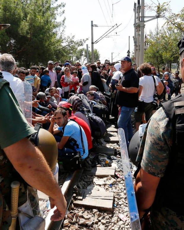The Macedonia-Greece border