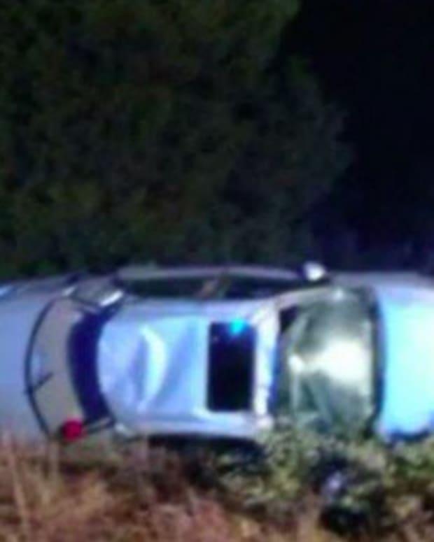 Emily Apple's Overturned Car.