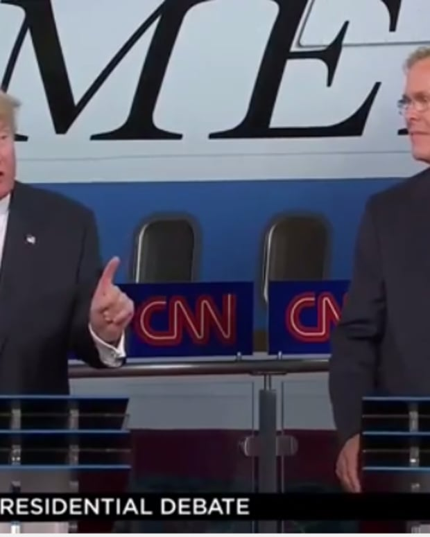 Donald Trump and Jeb Bush, GOP Debate screenshot