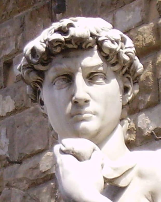 A Replica Of Michelangelo's 'David.'