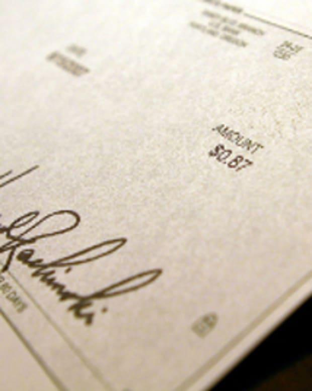 A cashier's check
