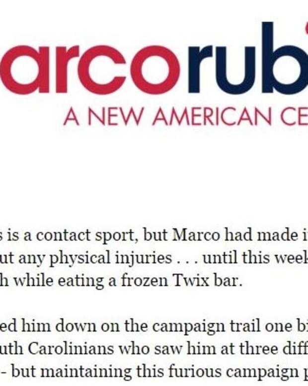 Sen. Marco Rubio donation email