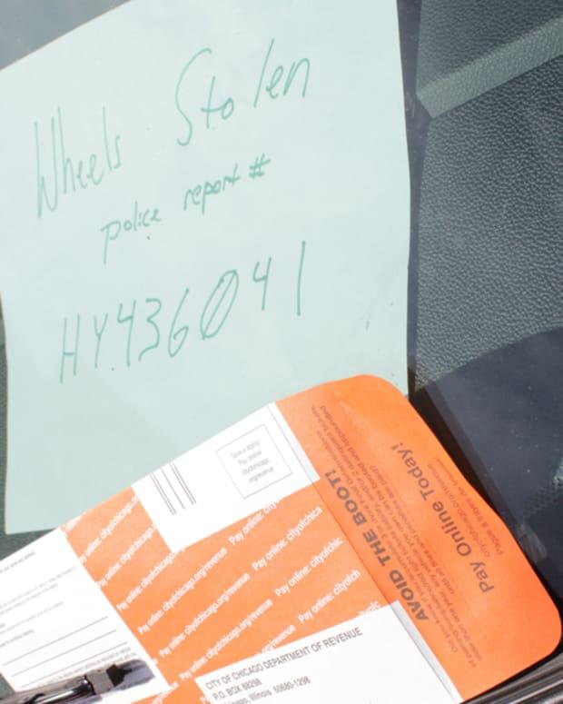 Ticket on windshield of SUV