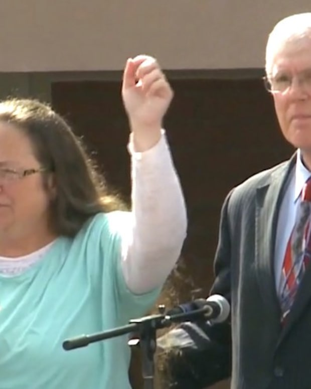Kim Davis' Lawyer Behind States' Anti-LGBT Laws (Video) Promo Image