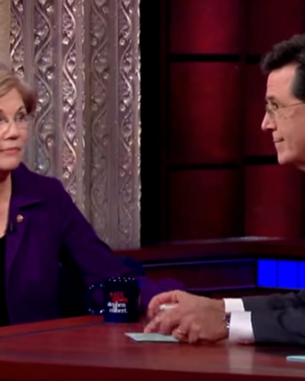 Sen. Elizabeth Warren Sitting Down With Stephen Colbert