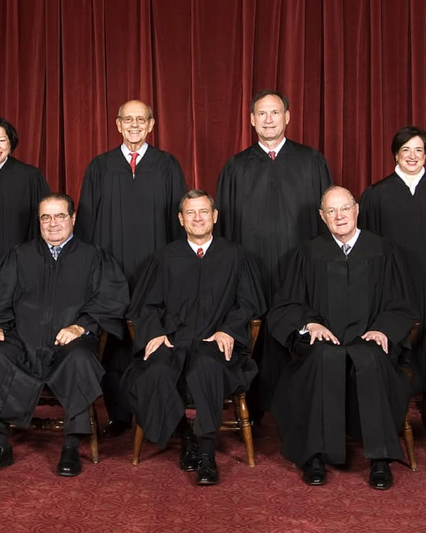 A 2010 group photo of the Supreme Court's justices.