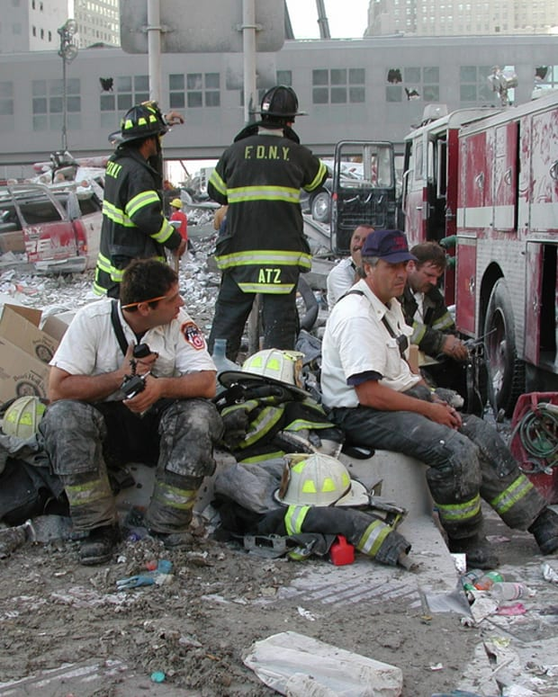 9/11 responders take a break