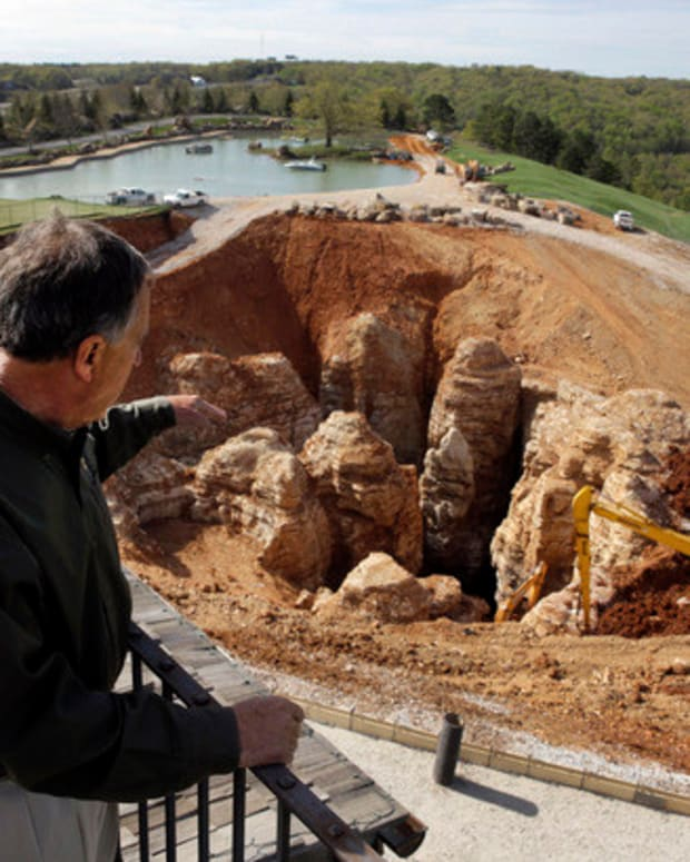Remarkable Discovery Made Under Golf Course Sinkhole  Promo Image