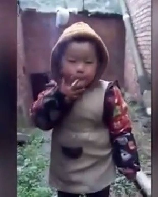 Outrage After Dad Films Toddler Smoking (Video) Promo Image