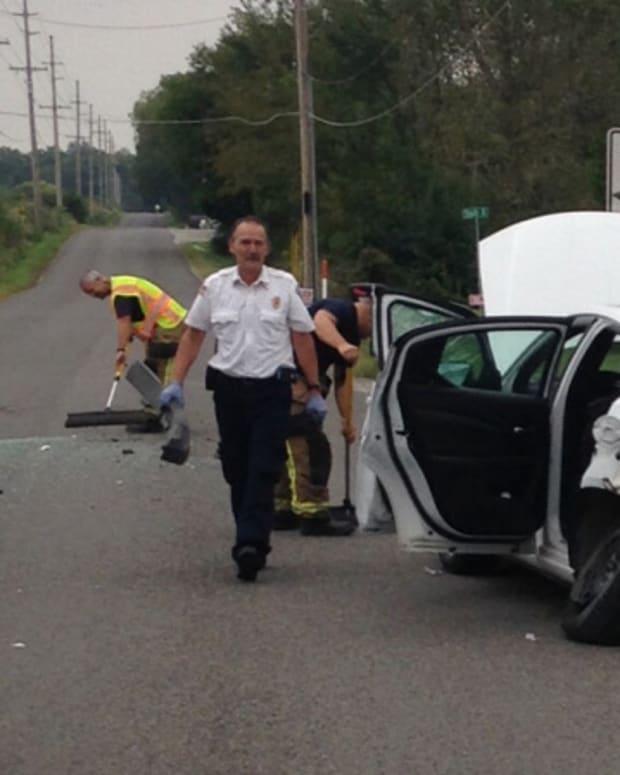 Angela K. Kipp's car after crash