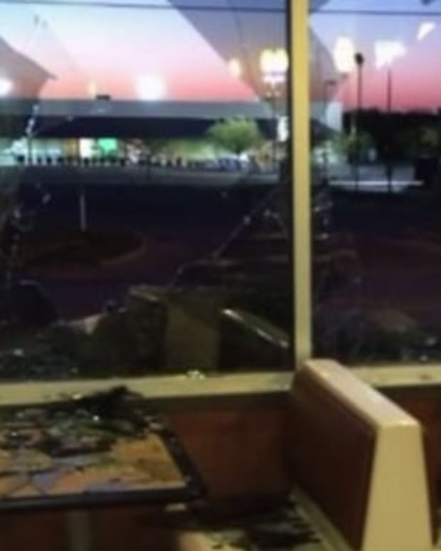 Burger King Employees Smash Windows After Prank Call Promo Image