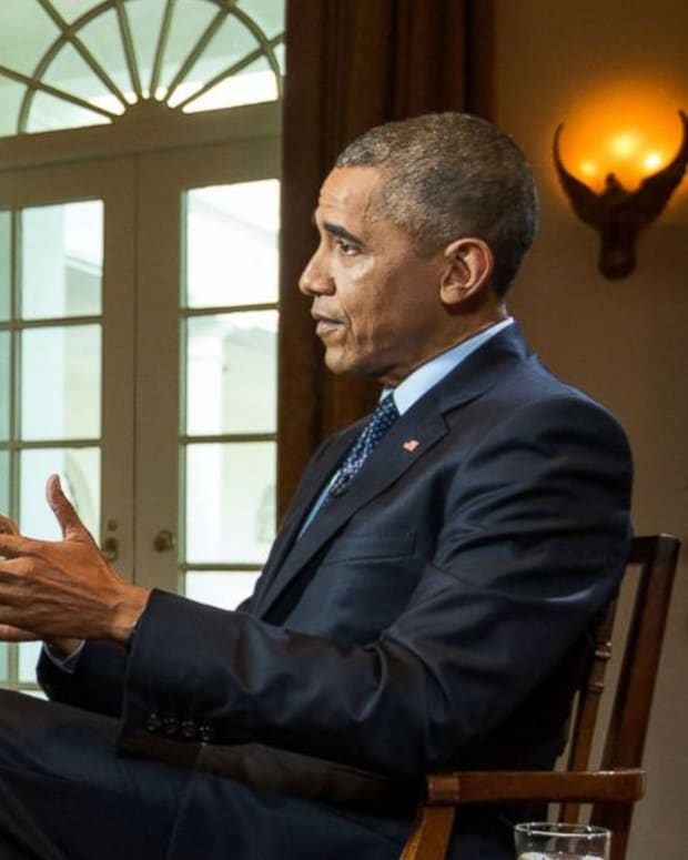 Obama Speaking At Interview