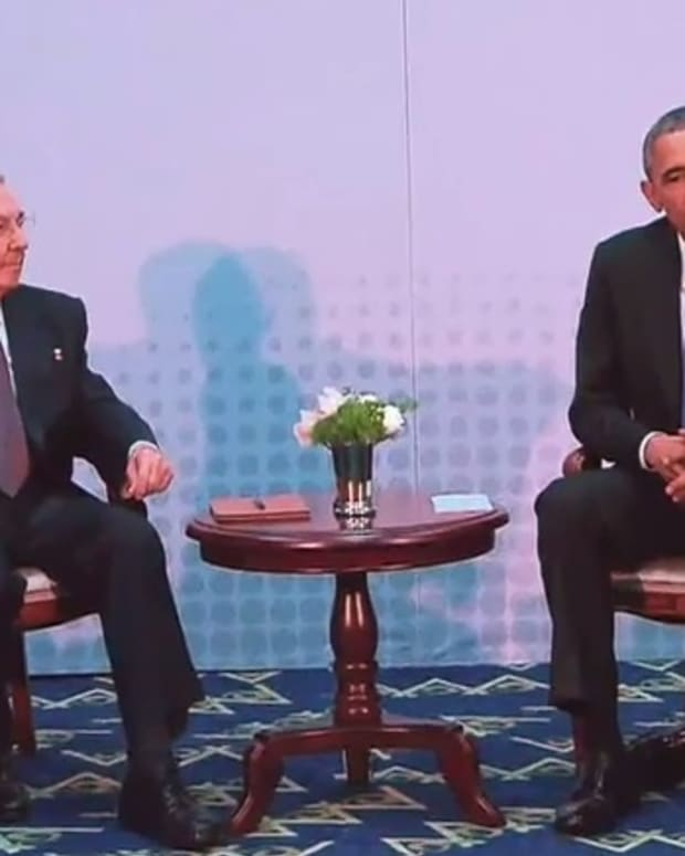 President Raul Castro and President Barack Obama.