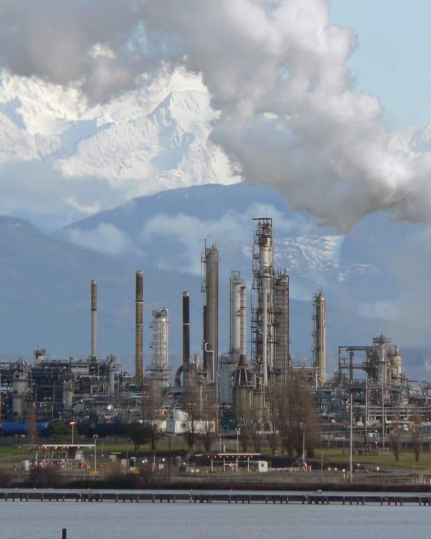 Oil Refinery In Anacortes, Washington