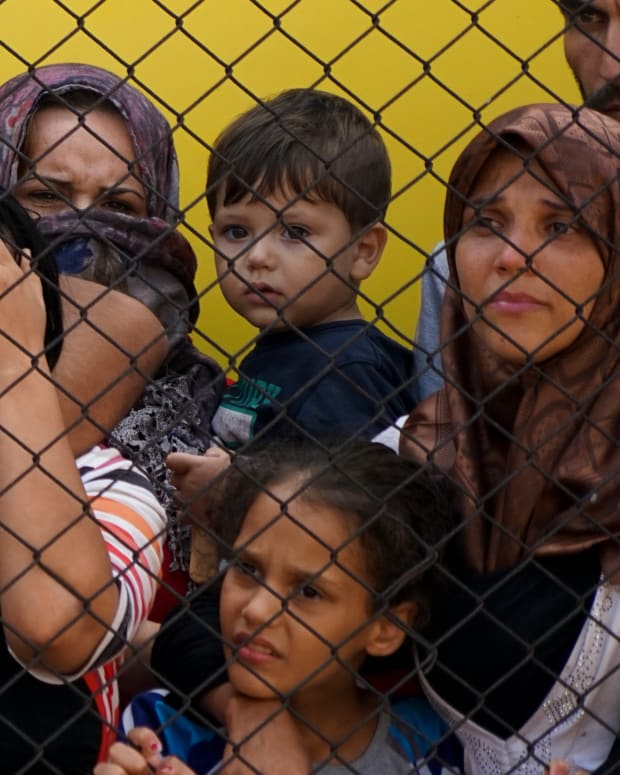 Syrian refugees were denied access to Hungary in September of 2015.