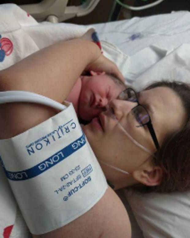 Laura Adams with Baby Josephine.