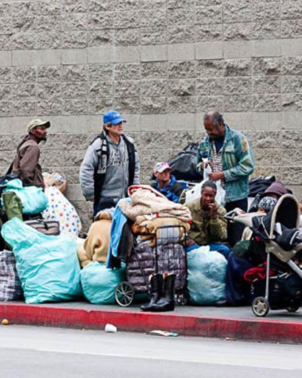 Homeless people in LA