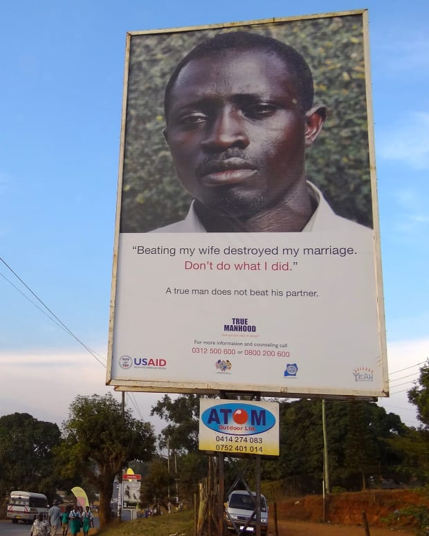 An anti-domestic violence billboard.