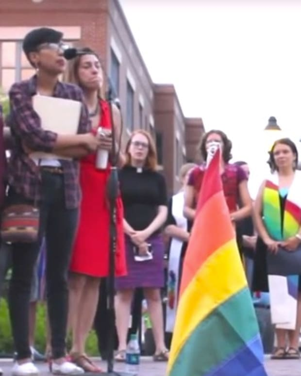 Vigil For Orlando Victims Slams White People (Video) Promo Image