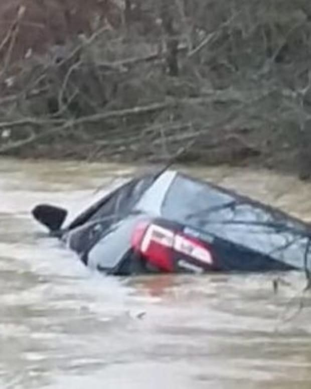 Kristy Irby's Car Submerged In Creek