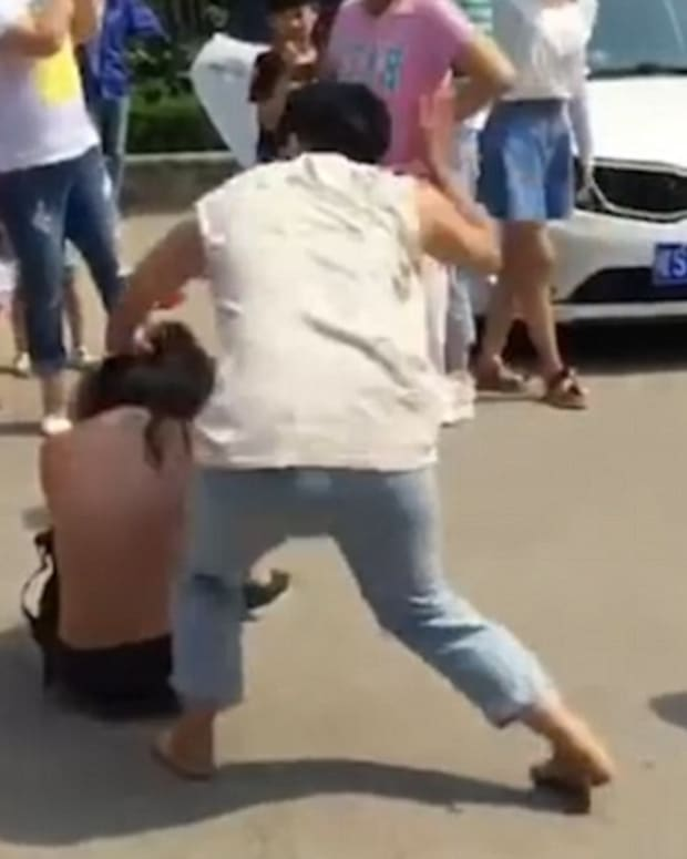 Women Seen Beating Alleged Mistress (Video) Promo Image