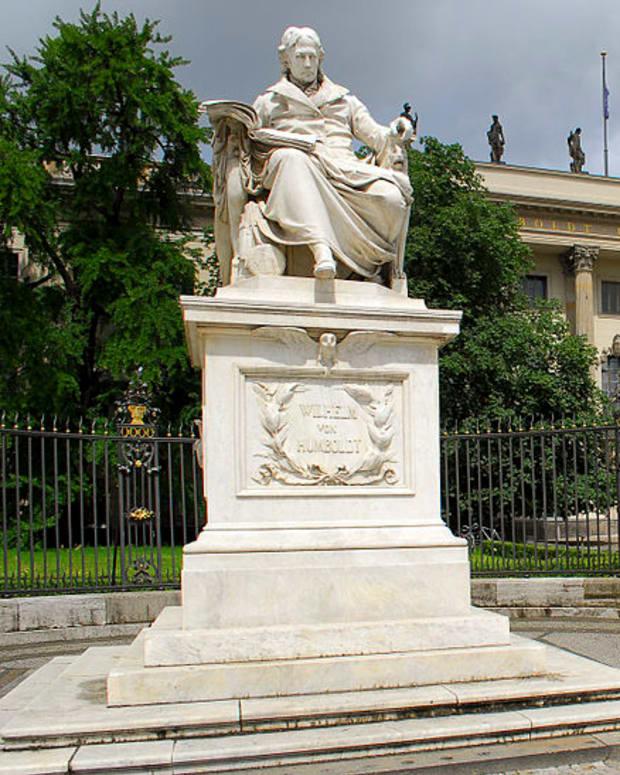 Wilhelm Von Humboldt Statue At Humboldt University