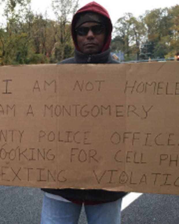 Cpl. Patrick Robinson Poses As Homeless Man.