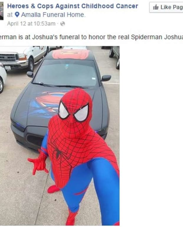 Cop Dresses As Spider-Man At 5-Year-Old's Funeral Promo Image