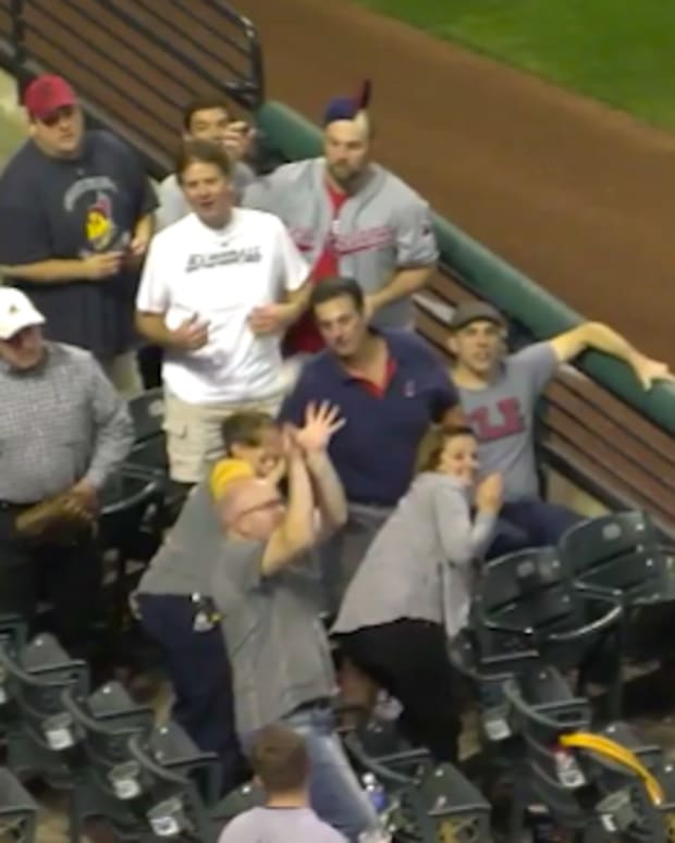 Fan Hit By Foul Ball.