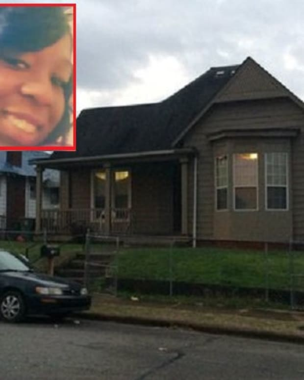 House where double murder took place, Inset: 5-year-old's parents