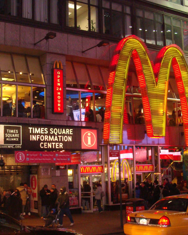 A McDonald's franchise in New York's Times Square.