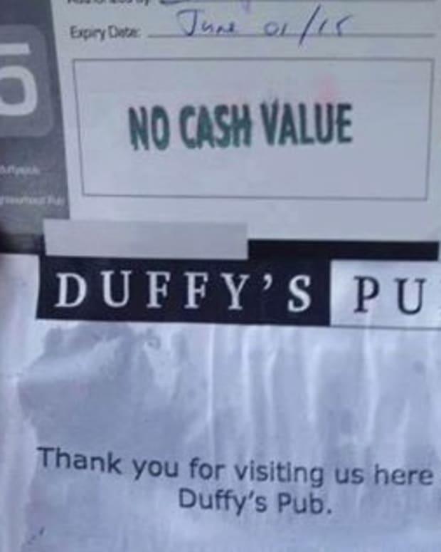 Duffy's Pub Note.