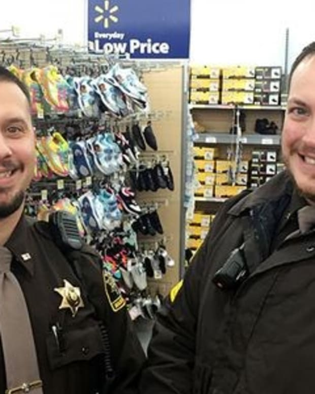 Deputy John Balowski (left) and Sgt. Adam Lamb