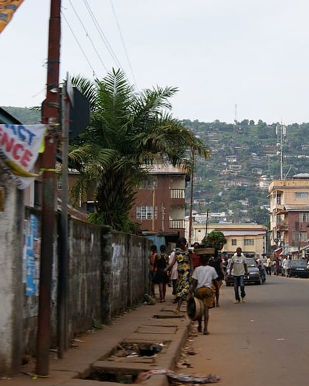 A Street In Freetown, Sierra Leone.