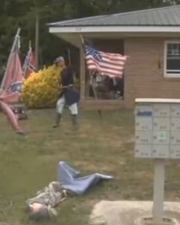 Georgia Man Forced To Remove Civil War Display (Video) Promo Image