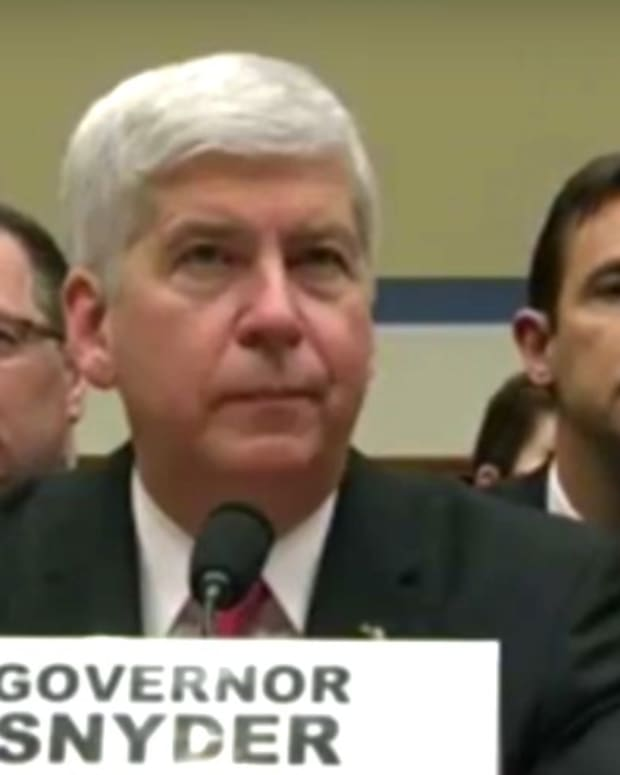 Michigan Governor Slammed At Flint Water Hearing (Video) Promo Image