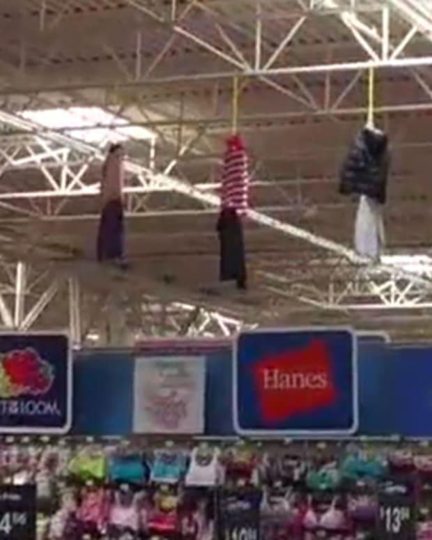 Walmart clothing display