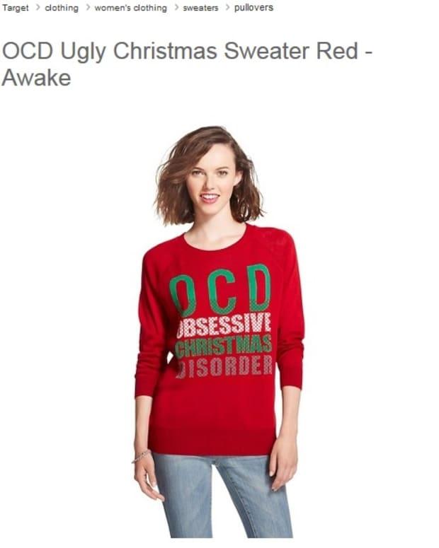 OCD: Obsessive Christmas Disorder Sweater.