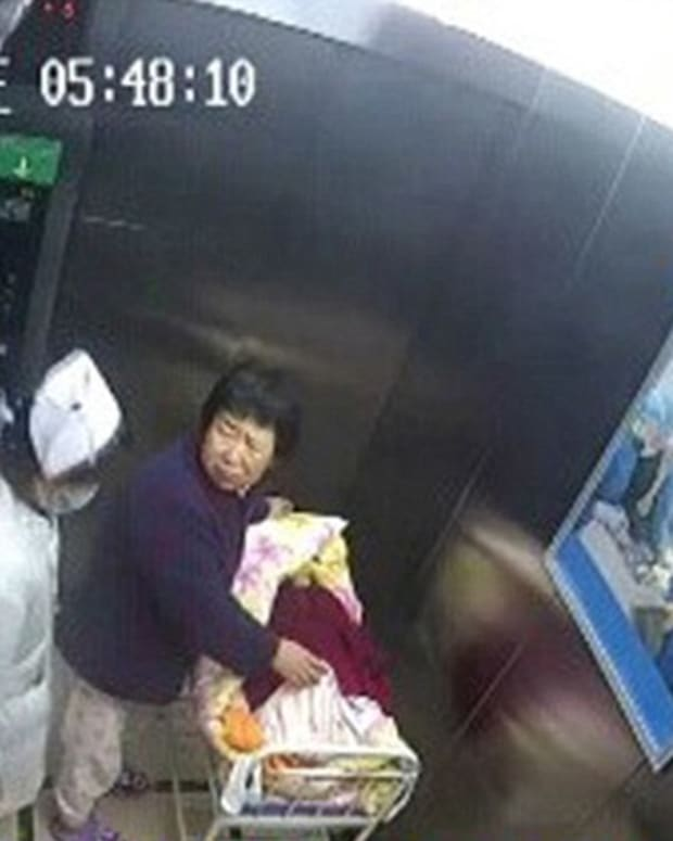Grandmother Stopping Kidnapper.
